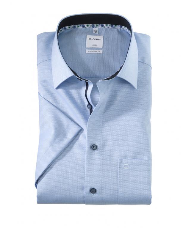 Feinstruktuiertes Halbarm-Hemd von Olymp, Comfort Fit
