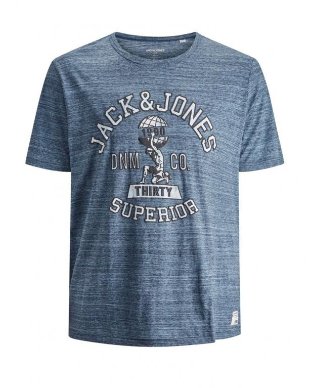 Jack&Jones Melange-Shirt mit Logoprint