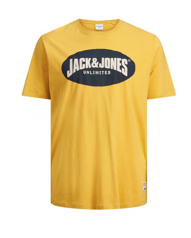 Weiches Jersey-Shirt mit Logoprint von Jack&Jones