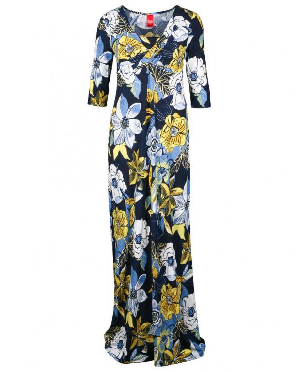 Only-M. Kleid mit Blumenstickereien blau | 88