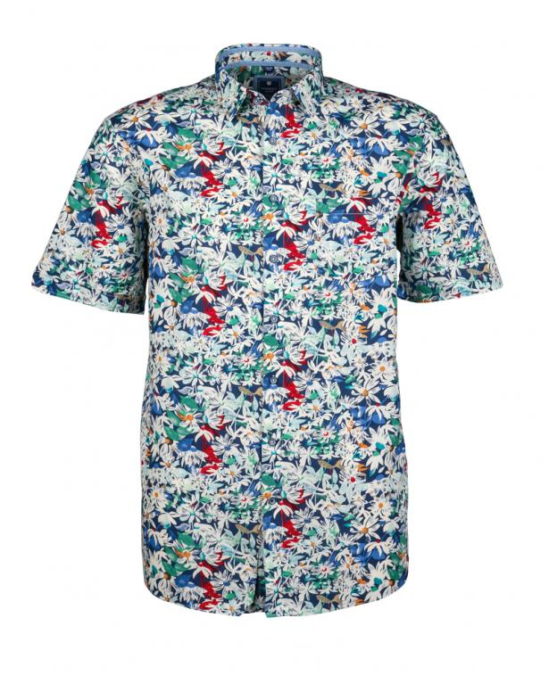 Redmond flower printshirt, casual fit