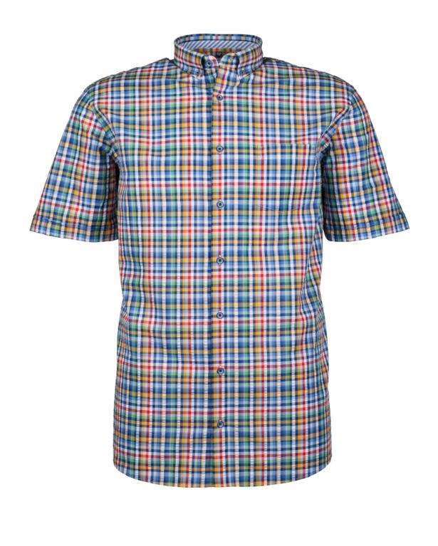 Kariertes Seersucker-Hemd von Redmond