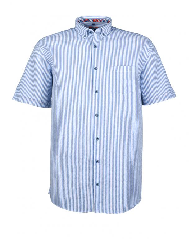 Gestreiftes Seersucker-Hemd von Redmond