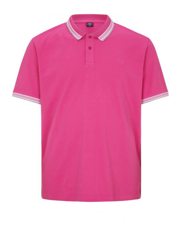 s.Oliver Piqué-Poloshirt mit Kontrastdetails
