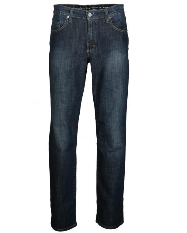 Bequeme Dark Denim-Jeans