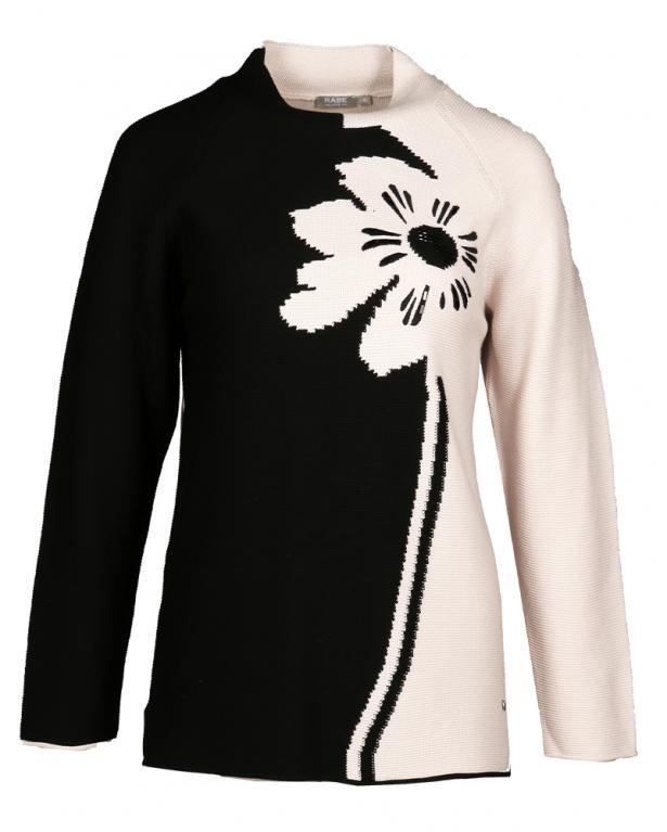 Rabe grafischer Raglan-Pullover