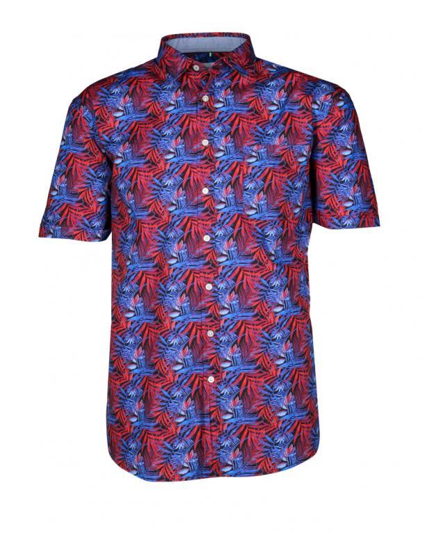 Brax Kurzarmhemd mit attraktivem Alloverprint