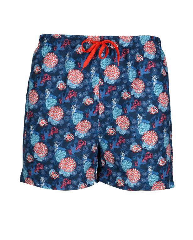 "Bellonda Print-Badeshorts "" Koralle"" blau | 6XL"