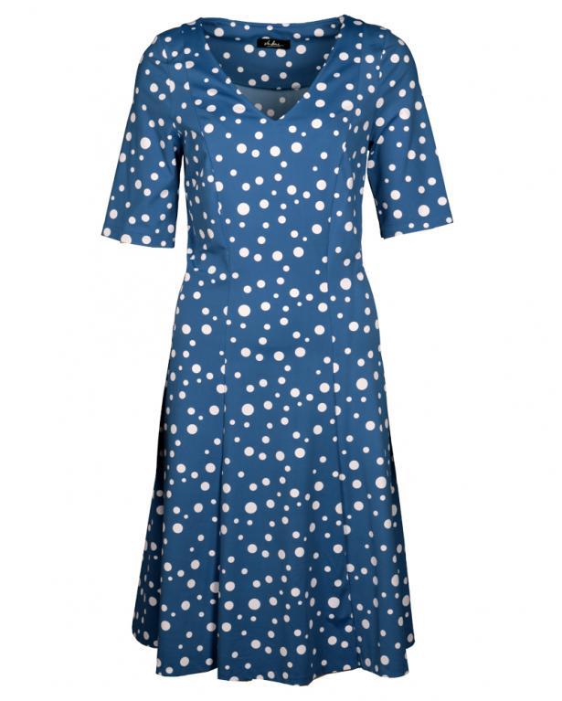 Feminin ausgestelltes Kleid