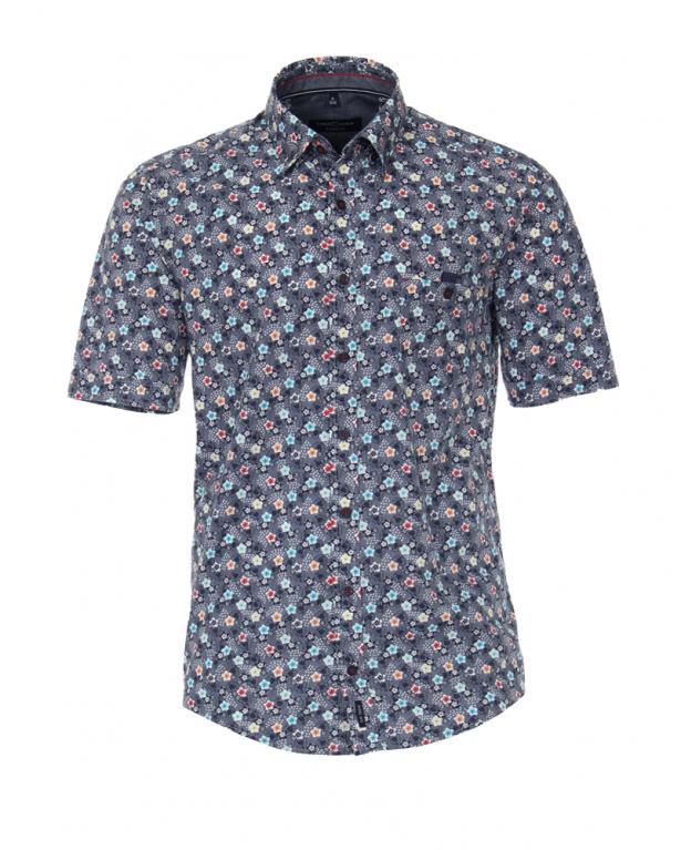 Under Button Down-Hemd von Casa Moda mit Blumenprint