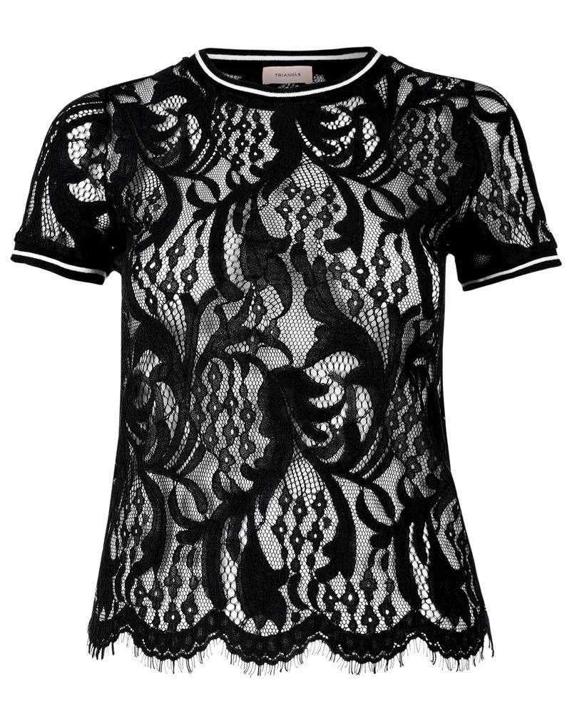 weingarten grosse gr ssen spitzenshirt mit rippb ndchen online einkaufen. Black Bedroom Furniture Sets. Home Design Ideas