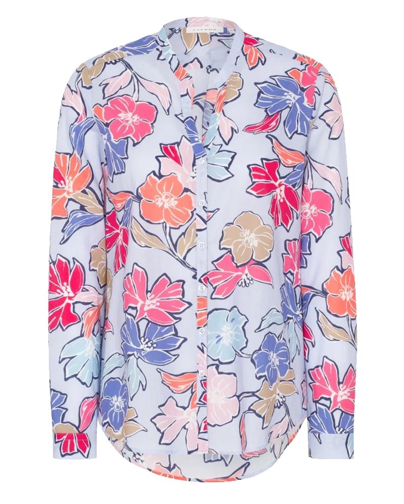eterna blusentunika mit floralem print